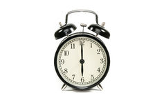 Alarm clock. Red alarm clock Isolated white background Royalty Free Stock Image