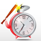 Alarm clock.Red.Vector Royalty Free Stock Photo