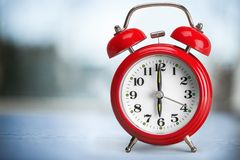Alarm Clock. Clock Red Watch Ringing Single Object Royalty Free Stock Photo