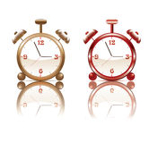 Alarm clock with reflection - . Royalty Free Stock Photo