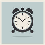 Alarm Clock on Retro Background Vector Royalty Free Stock Photos