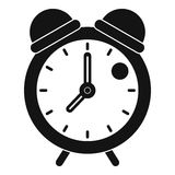 Alarm clock retro classic design icon simple style Stock Image