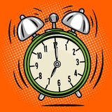 Alarm clock ring comic book style vector Royalty Free Stock Photos