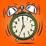 Alarm clock ring comic book style vector Royalty Free Stock Photos