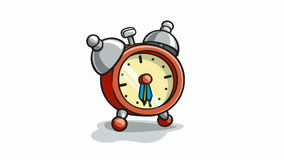 Alarm clock ringing -with alpha stock video footage