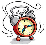 Alarm clock ringing cartoon illustration Stock Image