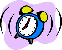 Alarm clock ringing vector illustration Stock Photos