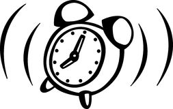 Alarm clock ringing vector illustration Royalty Free Stock Photography