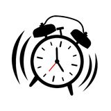 Alarm clock ringing, vector illustration royalty free stock photography