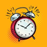 Alarm clock is ringing, wake-up call. Reminder, deadline concept. Vector illustration Royalty Free Stock Photo