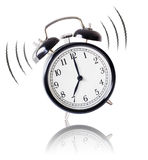 Alarm clock ringing on white background Stock Image
