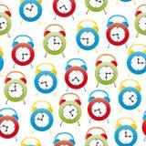 Alarm clock seamless pattern Stock Photos