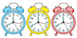 Alarm clock set stock illustration