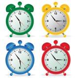Alarm, clock, set, vector, illustration Stock Image