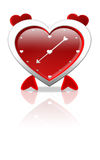 Alarm clock in the shape of love Stock Photo
