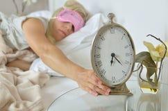 Alarm Clock Showing 6.23 am Royalty Free Stock Photo
