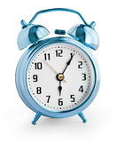 Alarm clock showing six hours with clipping path Royalty Free Stock Photos