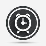 Alarm clock sign icon. Wake up alarm symbol. Stock Photos