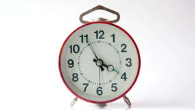 Alarm clock in six stock footage
