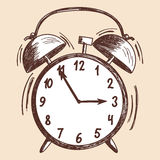 Alarm clock sketch. EPS 10 vector illustration without transparency Stock Image