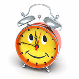 Alarm clock with smiley face Royalty Free Stock Photo