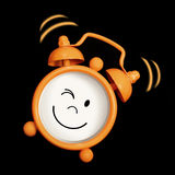 Alarm clock smiling Royalty Free Stock Photography