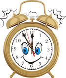 Alarm clock - smiling clock face Stock Photo