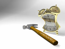 Alarm clock with snooze button Royalty Free Stock Image