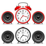 Alarm clock with speakers Stock Photos