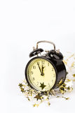 Alarm clock and stars Stock Image