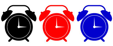 Alarm clock symbol Stock Images