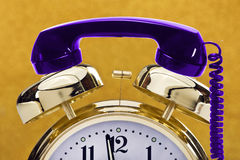 Alarm Clock and Telephone Royalty Free Stock Image