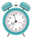 Alarm clock time on  background vector. Alarm clock on  background Royalty Free Stock Photos