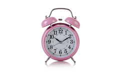 The alarm clock in time concept isolated on white Stock Photography