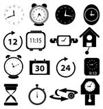 Alarm clock time icons set Royalty Free Stock Images