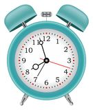 Alarm clock time isolated background vector Stock Photography