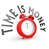 Alarm clock with time is money Royalty Free Stock Photo