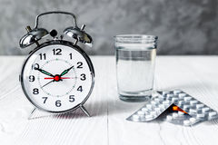 Alarm clock time to take medicine Stock Photos