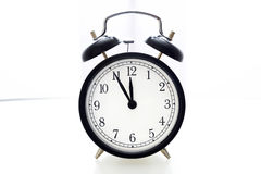 Alarm clock 5 to 12 Royalty Free Stock Images