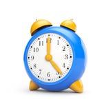 Alarm clock - toy. Stylish Alarm clock. Isolated on white Stock Photos