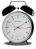 Alarm Clock. A traditional style alarm clock with external bells Royalty Free Stock Photography
