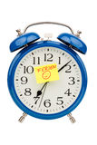 Alarm clock on vacation beginning Stock Photography