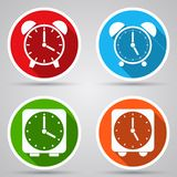 Alarm clock vector icons Stock Images
