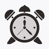 Alarm clock. Vector illusration, symbol, time, icon Royalty Free Stock Images