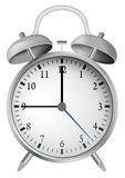 Alarm clock. Vector illustration background Stock Images