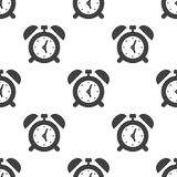 Alarm clock, vector seamless pattern. Editable can be used for web page backgrounds, pattern fills Royalty Free Stock Photo