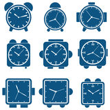 Alarm clock vector set. A set of vector alarm clock icons Royalty Free Stock Images