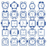 Alarm clock vector set Royalty Free Stock Photography