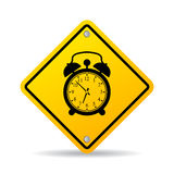Alarm clock vector sign Stock Images