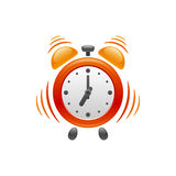 Alarm clock with vibration. Vector icon. Stock Images